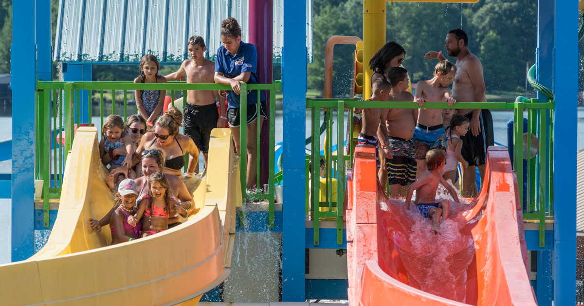 Swimming at Jellystone Park